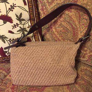 Vintage Banana Republic wool/leather bag
